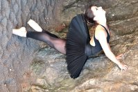 fotogram - baletnica na parkiecie